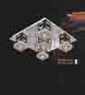 Áp trần pha lê Led vuông NC 087