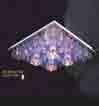 Áp trần pha lê Led vuông NC 1006