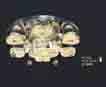 Áp trần pha lê Led tròn NC 7055