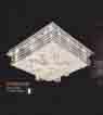 Áp trần pha lê Led vuông NC 7089