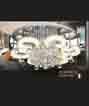 Áp trần pha lê Led tròn NC 80098B