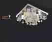 Áp trần pha lê Led vuông NC 80173