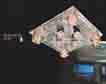 Áp trần pha lê Led vuông NC 8075