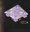 Áp trần pha lê Led vuông NC 8402