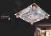 Áp trần pha lê Led vuông NC 892