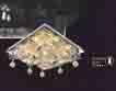 Áp trần pha lê Led vuông NC 92058