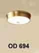 Đèn áp trần đồng OD 694