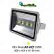 Đèn pha led  PHA LED 200W Trắng + Vàng