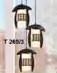 Đèn thả gỗ T 269/3