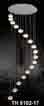 Đèn thả dây pha lê TH 8102/17