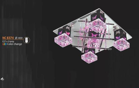 Áp trần pha lê Led vuông NC 8374