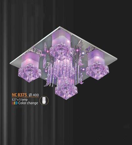Áp trần pha lê Led vuông NC 8375