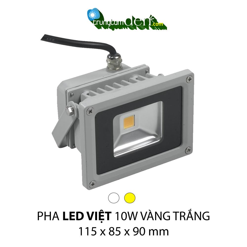 PHA LED 10W Trắng + Vàng