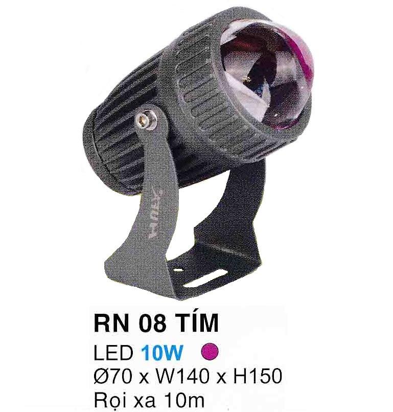 Đèn led pha rọi mặt tiền RN 08 TÍM