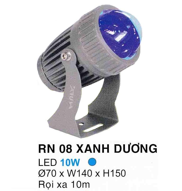 Đèn led pha rọi mặt tiền RN 08 XANH DƯƠNG