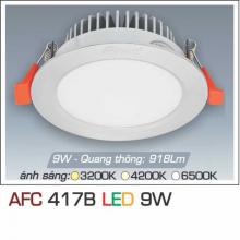 Đèn downlight led 1 chế độ AFC 417B 9W 1C