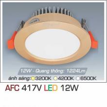 Đèn downlight led 1 chế độ AFC 417V 12W 1C