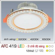 Đèn downlight led 3 chế độ AFC 419 12W 3C