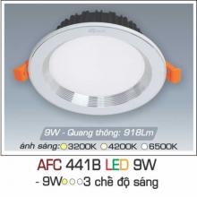 Đèn downlight led 3 chế độ AFC 441B 9W 3C