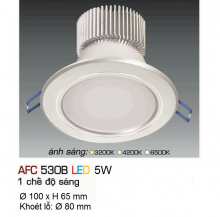 Đèn downlight led 1 chế độ AFC 530B 5W