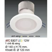 Đèn downlight led 1 chế độ AFC 530T 12W
