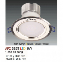 Đèn downlight led 1 chế độ AFC 532T 5W