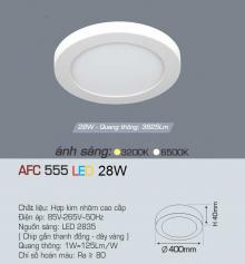 Đèn led nổi cao cấp 1 chế độ AFC 555 28W