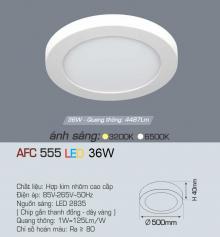 Đèn led nổi cao cấp 1 chế độ AFC 555 36W