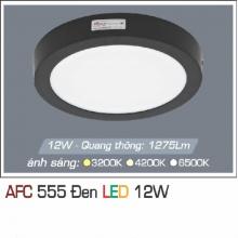 Đèn led nổi cao cấp 1 chế độ AFC 555 ĐEN 12W 1C