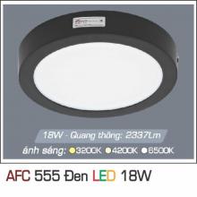 Đèn led nổi cao cấp 1 chế độ AFC 555 ĐEN 18W 1C