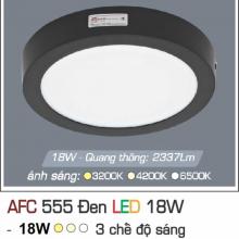 Đèn led nổi cao cấp 3 chế độ AFC 555 ĐEN 18W 3C