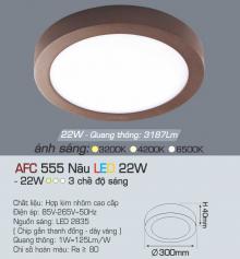 Đèn led nổi cao cấp 3 chế độ AFC 555N 22W 3C