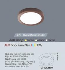 Đèn led nổi cao cấp 1 chế độ AFC 555N 6W 1C