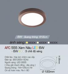 Đèn led nổi cao cấp 3 chế độ AFC 555N 6W 3C