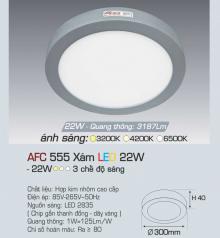 Đèn led nổi cao cấp 3 chế độ AFC 555X 22W 3C