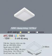 Đèn led nổi cao cấp 3 chế độ AFC 556 12W 3C