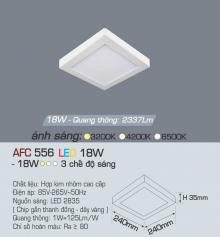 Đèn led nổi cao cấp 3 chế độ AFC 556 18W 3C