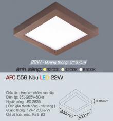 Đèn led nổi cao cấp 1 chế độ AFC 556N 22W 1C