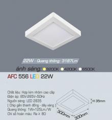 Đèn led nổi cao cấp 1 chế độ AFC 556 22W 1C