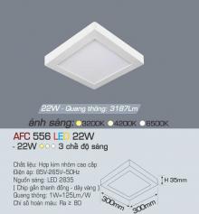 Đèn led nổi cao cấp 3 chế độ AFC 556 22W 3C
