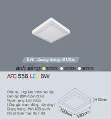 Đèn led nổi cao cấp 1 chế độ AFC 556 6W 1C