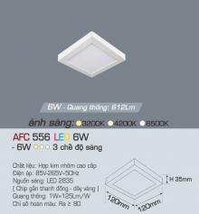 Đèn led nổi cao cấp 3 chế độ AFC 556 6W 3C