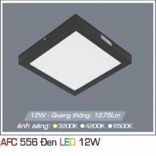 Đèn led nổi cao cấp 1 chế độ AFC 556 ĐEN 12W 1C