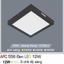 Đèn led nổi cao cấp 3 chế độ AFC 556 ĐEN 12W 3C