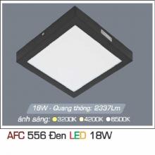 Đèn led nổi cao cấp 1 chế độ AFC 556 ĐEN 18W 1C