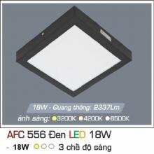 Đèn led nổi cao cấp 3 chế độ AFC 556 ĐEN 18W 3C