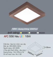Đèn led nổi cao cấp 1 chế độ AFC 556N 18W 1C