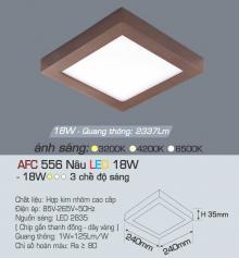 Đèn led nổi cao cấp 3 chế độ AFC 556N 18W 3C