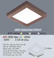 Đèn led nổi cao cấp 3 chế độ AFC 556N 22W 3C
