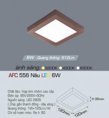 Đèn led nổi cao cấp 1 chế độ AFC 556N 6W 1C